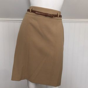 Ann Taylor Loft Brown Skirt Career Straight
